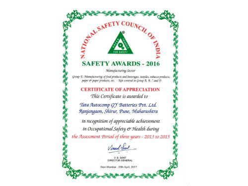 National_Safety_Award